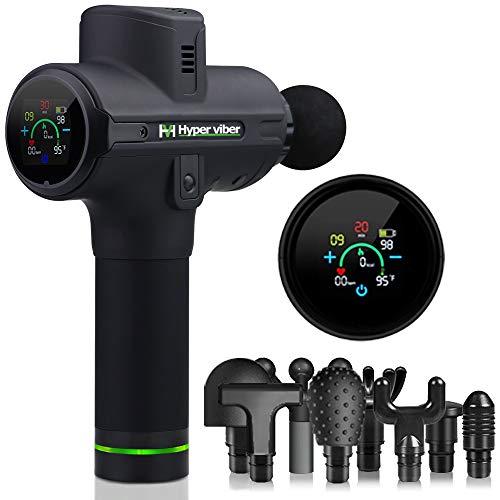 Massagepistole Hyper viber, Massagegerät Percussion Mit 8 Köpfen, LCD-Touchscreen, 8 Stunden Akkulaufzeit, Massage Gun Super Leise