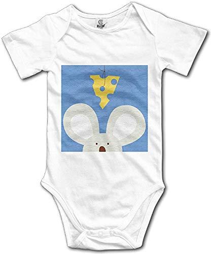 ngmaoyouxis Unisex Baby Onesies Op maat gemaakt met Kaas om Muizen Kort-Sleeve Bodysuit Katoen Jongens Meisjes 0-24 Maanden