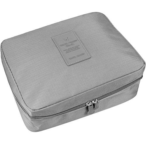 YIMOJI portatile multifunzione Beauty da viaggio cosmetici Beauty Case Trousse Make Up Borse Pouch blu Gray
