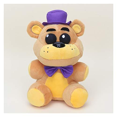 MUYANDZ Juguetes de Peluche Noches en el Freddy'S 4 FNAF Freddy Fazbear Bear Mangle Foxy Bonnie Peluche Toys Doll (Color : NightmareFredbear)