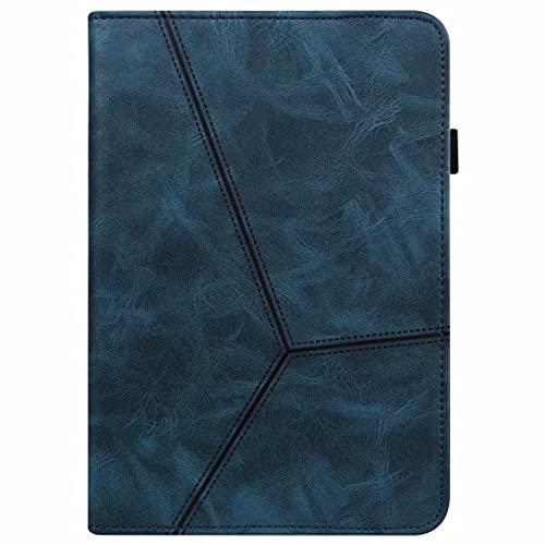 Funda para Samsung Galaxy Tab A7 Lite 8.7/T220/T225 - [Protección de esquina] Funda de piel vegana premium con función atril para despertar/dormir automática, azul