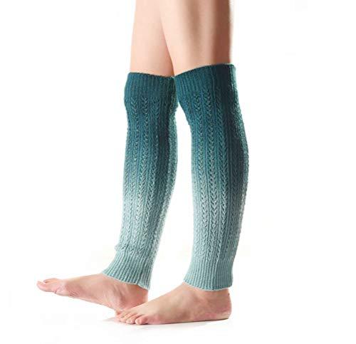 Nanxson Damen Strick Warmer Leggings farbverlauf Beinstulpen Stulpe Mehrfaribig Beinwärmer TTW0038 (Hellblau