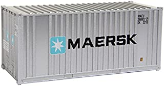 Walthers SceneMaster HO Scale Model of Maersk 20' Corrugated Container with Flat Panel