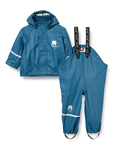 CeLaVi Zweiteiliger Regenanzug in Vielen Farben Veste Imperméable, Bleu (Blau), 68/74 (Taille Fabricant: 70) Bébé garçon