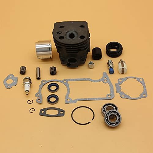46MM NIKASIL Cilindro Pistón Rodamiento Junta Premium Durable Kit Sets para Husqvarna 51 55 55 Rancher Motosierra piezas con válvula de descompresión