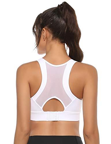 Abollria Sujetador Deportivo para Mujer con Almohadillas Extraíbles Sujetador de Yoga sin Costuras Ahuecado,Hebilla Ajustable en la Espalda Sujetador Deportivo