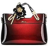 RedSwan Women Ladies Handbags Soft Leather Women Shoulder Bags (Red)