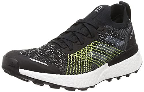 adidas Terrex Two Ultra PRIMEBLUE, Zapatillas para Carreras de montaña Hombre, Core Black/FTWR White/Solar Yellow, 42 2/3 EU
