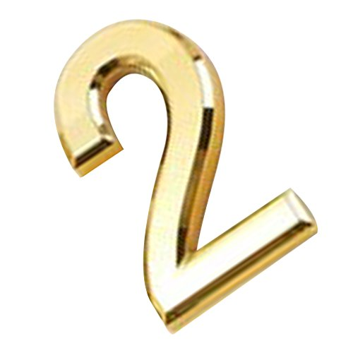 Generic Kunststoff Nummer Selbstklebend Haus Hotel Tür Sticky Digit Wanddekor - Gold 2