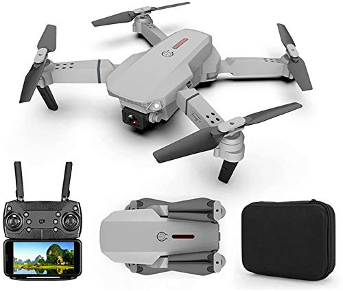 QSSQ Mini Foldable Drone for Beginners with Dual Camera, WiFi, FPV, Live Video, Height Hold,Gray