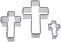 Cross Shaped 3 Piece Cookie Cutter Set