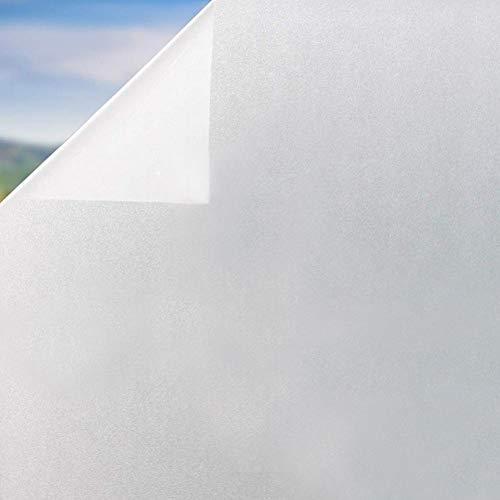 TTMOW Vinilo Película Autoadhesiva para Ventanas Cristal Protector de Privacidad Pegatina Translúcida Anti UV y IR con Electricida Estática para Baño Cocina Hogar y Oficina (90 * 200 cm)