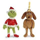 Aurora World Plush Bundle of 2, 18' Grinch Santa, & 18'...