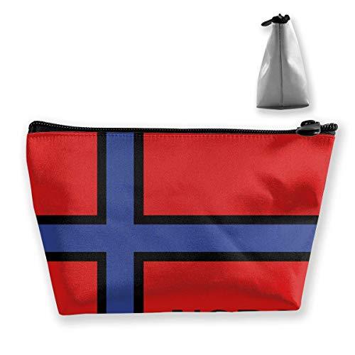 Norvège Oslo Bergen Kingdom Sac de rangement portable pour maquillage de grande capacité Sacs de voyage à main