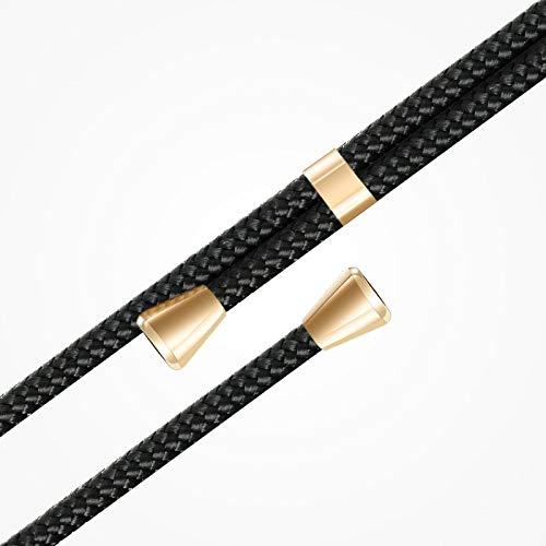 ZhinkArts Handykette kompatibel mit Huawei P20 Pro - Smartphone Necklace Hülle mit Band - Schnur mit Case zum umhängen in Schwarz - Gold - 2