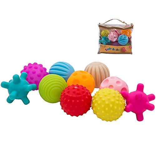 willkey bébé texturé Main balles de Massage sensoriel Infantile éducative Colore Sécurité des Enfants Non Toxique Doux Jouet de Bain Garre pour bébé