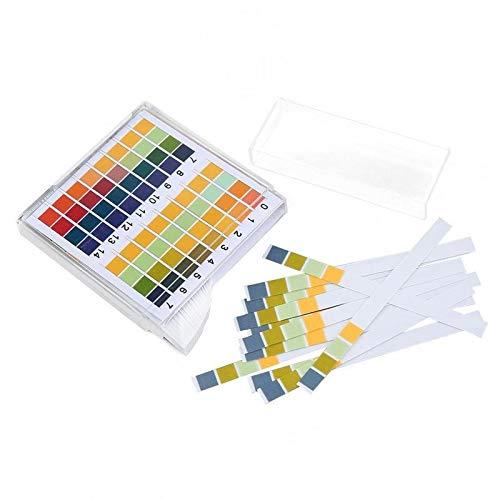 Shy-DPM, 100 Streifen/Karton 0-14 PH-Teststreifen 0-14 Premium-Lackmus-Testpapier Ideal for den Test des pH-Werts von Wasser