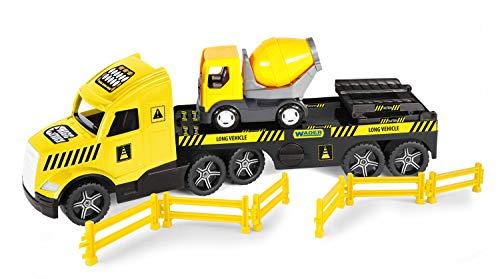 WADER 36460 Magic Truck głęboka załadunek z betoniarką, kratkami blokującymi i rampami, od 3 lat, ok. 79 cm