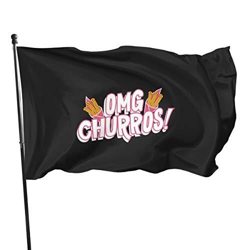 N/ Omg Churros vlag banner,3 * 1,5 m