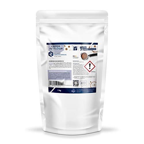 FURTH-CHEMIE Kaffeefettlöser, 1 kg Pulver-Reiniger, zum Reinigen von Kaffeevollautomat, Kaffeemaschine, Brühgruppenreinigung uvm.