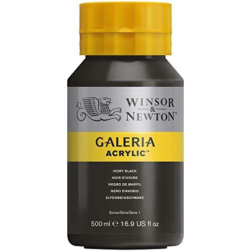 Tinta Acrílica Winsor & Newton Galeria 500ml 331 Ivory Black