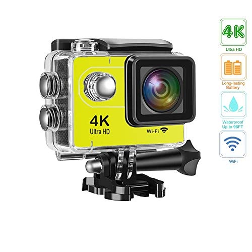Davola Action Camera 4K 16MP Underwater Waterproof Camera 170° Wide Angle WiFi Sports Cam with 1 Battery and Mounting Accessories Kit