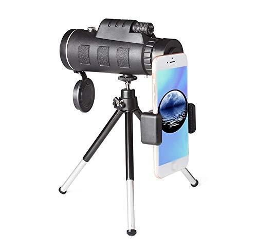 HUTWAN Impermeable Alcance monocular 20x60 Portátil Telescopio Terrestre Catalejos Alta Potencia campistas Cazadores niños Observando Delfines Aves Marinas Animales etc