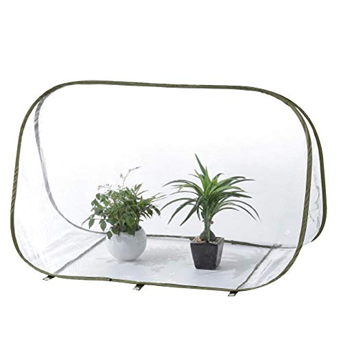 Wasserdichtes UV-geschütztes Gewächshaus, Verstärktes PVC-Faltgewächshaus, Mini-Blumenhaus-Pflanzabdeckung, Dreieck-Blumengewächshaus-transparente Isolationsabdeckung, Blumenschuppen, 90x52x62 cm