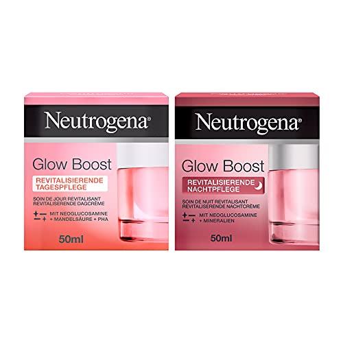 Neutrogena Glow Boost SetTag- &Nachtpflege(2 x 50 ml),erfrischende Tagescreme und regenerierende Nachtcreme, für gesund aussehende & strahlende Haut