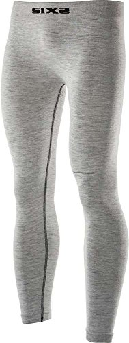 Six2 Merinos Carbon Underwear Wool Grey-S/M unisex volwassen leggings