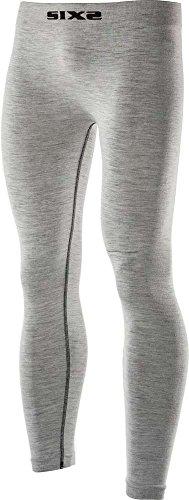 Six2 Merinos Carbon Underwear Wool Grey-S/M unisex volwassen leggings