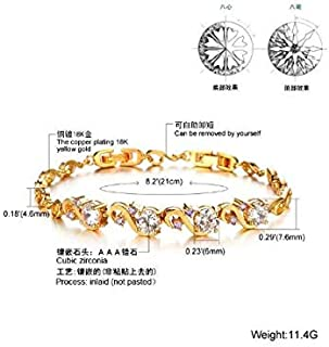 Copper Plated 18K Gold exquisite Zircon Women Bracelets