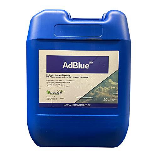 Leuendorff AdBlue Hochreine SCR Harnstofflösung ISO 22241, 20 Liter, inkl. Ausgießer