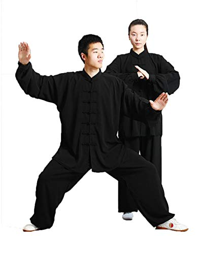 GEGEQ® Kung Fu Anzug Tai Chi Tang Anzug Tai Chi Kleidung Morgengymnastikkleidung Kung-Fu Kleidung Kampfsportkleidung Seidenmaterial - Anzug/inkl. Kleidung und Hose XL B
