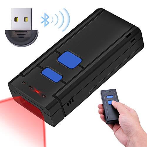 Kabellos Barcode Scanner Wireless 1D, Tragbarer Bluetooth- und kabelloser 1D-Barcodescanner, Mini-Handsender Barcodeleser für, iPad, iPhone, Android-Handys, Tablets oder Computer mit BT4.0 Empfänger