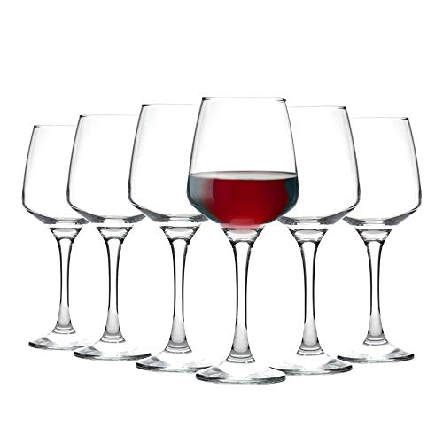 Argon Tableware Tallo - Copas de Vino Tinto - En Caja Regalo - 400 ml - Pack de 6