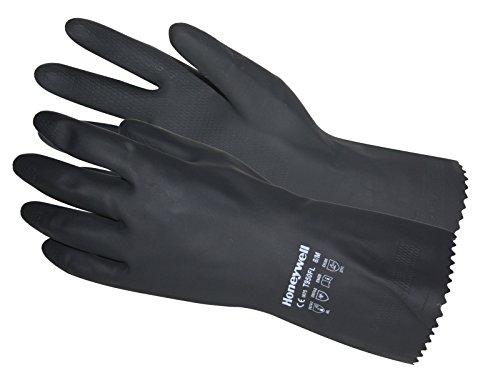 Honeywell Latex Handschuhe Gummihandschuhe Chemikalienschutz Arbeitshandschuhe schwarz (7 (S))