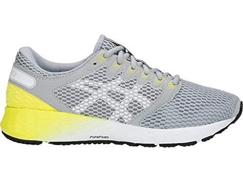 ASICS Women's Roadhawk FF 2 Running Shoes, 6.5M, MID Grey/White