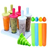 Eisformen 11 Stück Eis am Stiel Formen Einstellen Eislutscher Hersteller für Kinder und Erwachsene...