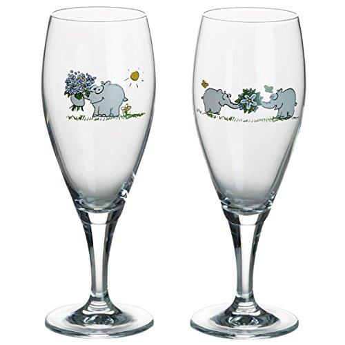 Otto by Ritzenhoff AG OW-0016 bierglas, pilsglas, ottifanten, Otto Waalkes, 350 ml, set van 2