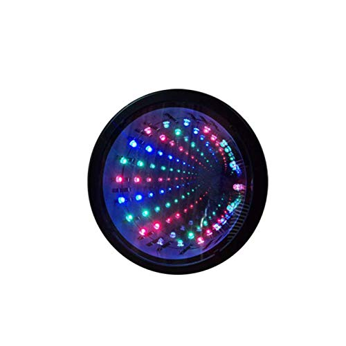 Compartimento Lámpara 3D Infinito Espejo Luz Con Cambia de Color, LED para Espejo, Compartimento, 3D Colgante Pared Luces Escritorio Fiesta, Boda, Cuarto Estar Decoración Sensorial - Negro, free size