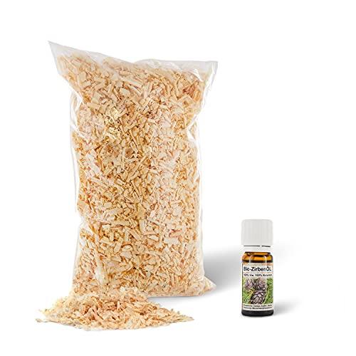 1kg Zirbenspäne 1. Wahl + Bio-Zirbenöl 10ml