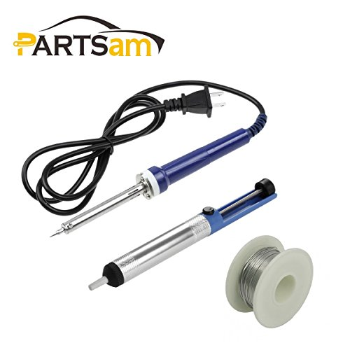 Partsam 1 Set Soldering Iron Desoldering Pump Sucker Pencil Gun DIY Repair Tool Kit Welding Accessory
