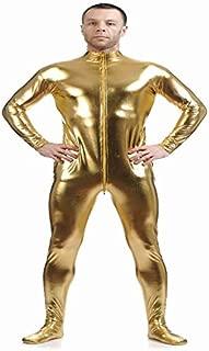 D DOLITY Shiny Spandex Full Body Suit Second Skin Bodysuit Zentai Unitard Gold L