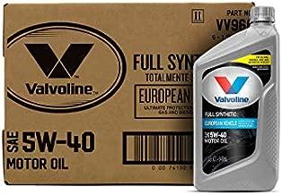 Valvoline European Vehicle Full Synthetic SAE 5W-40 Motor Oil 1 QT, Case of 6