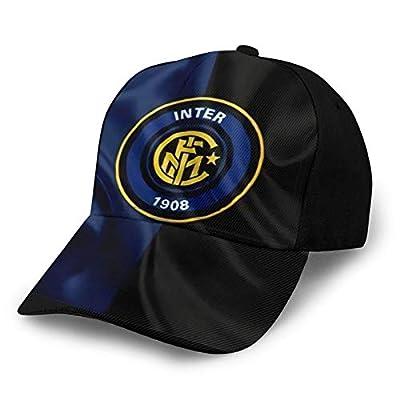 Iyifoo Inter Milan Washed Adjustable Baseball Cap Peaked Cap Dad Hat Black