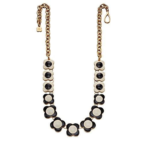 Orla Kiely Creme und schwarz Blume Halskette Länge 44–49cm