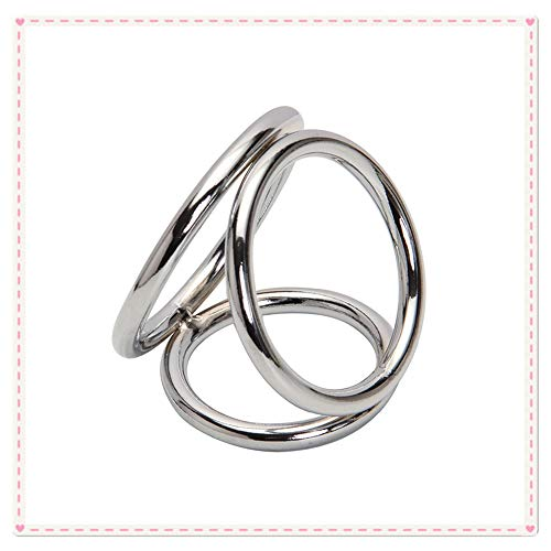 Great Deal! 3 Rings of Stainless Steel Metal,Silver (Large Size)