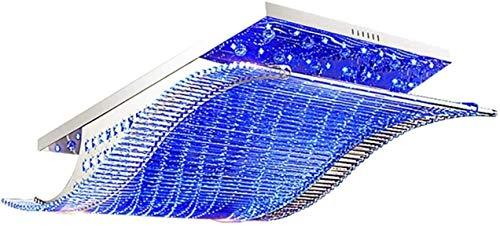 nakw88 Chandelier Crystals Chandelier Lámpara de Techo Moderna con Cristal K9 Lámpara de Techo Simple e iluminación cambiante de 4 Colores de Acero Inoxidable para Dormitorio/Sala de Estar/Cocina