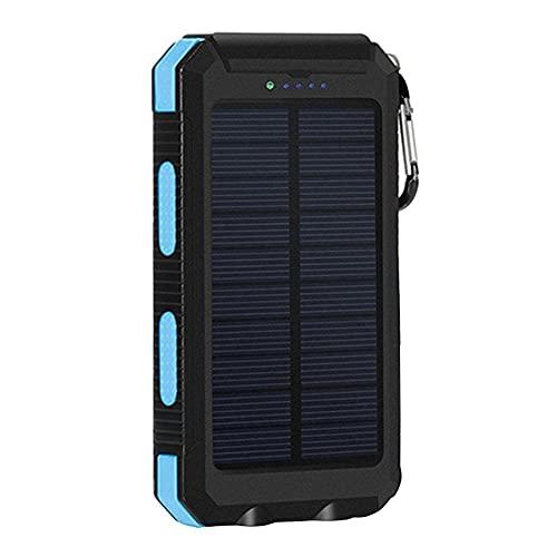 Tuimiyisou Cargador Solar, Impermeable Al Aire Libre Portátil 20000mah Banco De La Energía Solar, Móvil De La Energía del Teléfono Móvil del Compás De Energía Solar
